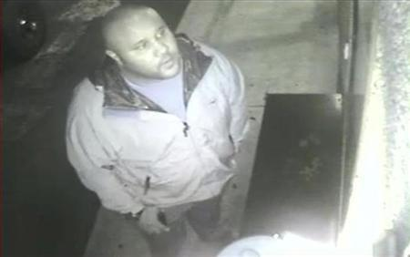 Christopher Dorner is seen on a surveillance video at an Orange County hotel on January 28, 2013 in this still image released by the Irvine Police Department. Authorities in California launched a statewide manhunt for the former Los Angeles police officer suspected in the Thursday morning shooting of three police officers after he threatened ''warfare'' on cops. REUTERS/Irvine Police Department/Handout