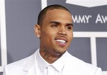 Singer Chris Brown arrives at the 55th annual Grammy Awards in Los Angeles, California February 10, 2013. REUTERS/Mario Anzuoni