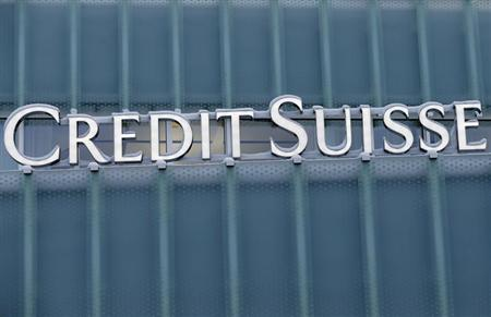 A Credit Suisse logo is seen on a Credit Suisse office building in Guemligen near Bern February 7, 2013. REUTERS/Pascal Lauener