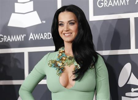 Singer Katy Perry arrives at the 55th annual Grammy Awards in Los Angeles, California February 10, 2013. REUTERS/Mario Anzuoni