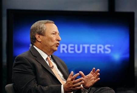 Senior White House economic adviser Lawrence Summers speaks during an interview with Reuters in Washington, June 24, 2010. REUTERS/Molly Riley/Files