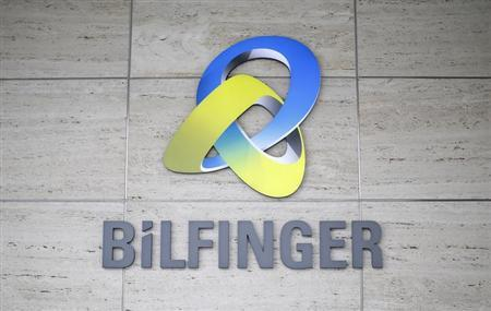 The logo of German industrial services provider Bilfinger is pictured on their headquarters in Mannheim January 21, 2013. REUTERS/Lisi Niesner (GERMANY - Tags: BUSINESS CONSTRUCTION)
