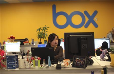 Employees work at the headquarters of Box.net, an online file sharing and Cloud content management service for enterprise companies, in Los Altos, California February 5, 2013. REUTERS/Robert Galbraith