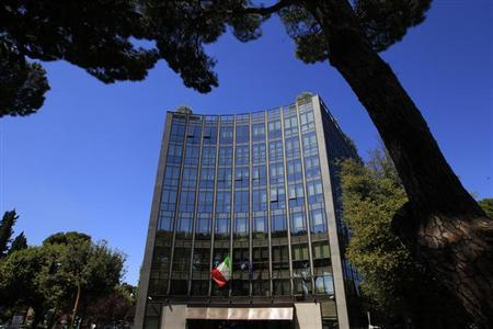 The headquarters of Italian defence and aerospace company Finmeccanica is seen in Rome May 3, 2012.