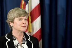 File photo of Rose Gottemoeller attending a news conference at the U.S. embassy in Rome April 24, 2009. REUTERS/Max Rossi