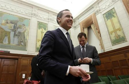 Bank of Canada Governor Mark Carney prepares to testify before the Commons finance committee on Parliament Hill in Ottawa February 12, 2013. REUTERS/Chris Wattie