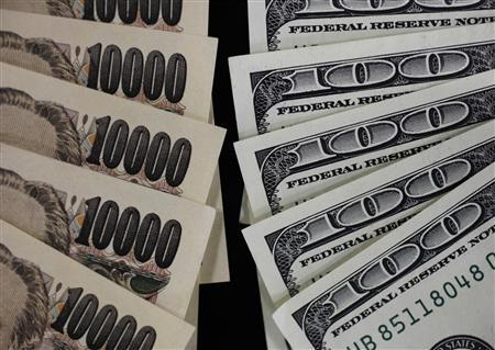 A picture illustration shows U.S. 100 dollar banks and Japanese 10,000 yen notes taken in Tokyo August 2, 2011. REUTERS/Yuriko Nakao