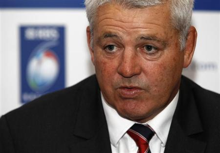 Wales rugby's head coach Warren Gatland attends the launch of the Six Nations rugby championship at the Hurlingham Club in London January 25, 2012. REUTERS/Eddie Keogh