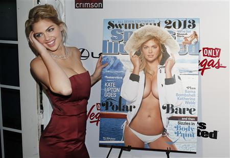 Supermodel Kate Upton poses at the launch party of the Sports Illustrated's 2013 Swimsuit issue, which features her on the cover, in New York February 12, 2013. REUTERS/Carlo Allegri