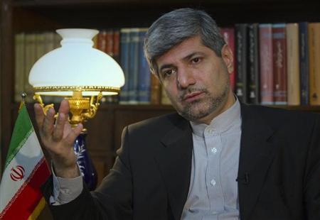 Iranian Foreign Ministry Spokesman Ramin Mehmanparast speaks with a Reuters correspondent during an interview in Tehran June 29, 2011. REUTERS/Caren Firouz