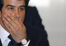L'ex ministro delle Politiche regionali Raffaele Fitto, Pdl, ieri condannato a quattro anni di carcere per una vicenda di appalti illeciti, qui in una foto del 2008. REUTERS/ Dario Pignatelli