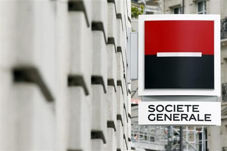 General view of the logo outside a branch of French bank Societe Generale in Paris September 13, 2011. REUTERS/Charles Platiau
