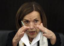 Il ministro del Welfare Elsa Fornero in una conferenza stampa, Roma, 4 aprile 2012. REUTERS/Alessandro Bianchi