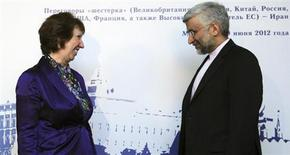 European Union Foreign Policy Chief Catherine Ashton (L) meets with Iran's Chief Negotiator Saeed Jalili in Moscow, in this file photo taken June 18, 2012. REUTERS/Kirill Kudryavtsev/Pool