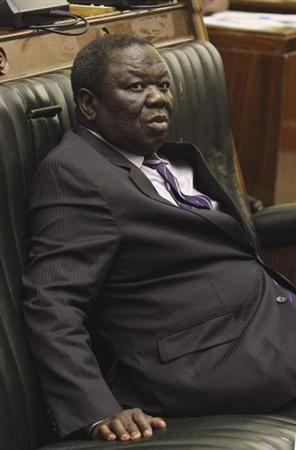 Zimbabwe Prime Minister Morgan Tsvangirai attends the presentation of the Final Draft of the Constitution for debate in Parliament Building in Harare February 6, 2013. REUTERS/Philimon Bulawayo