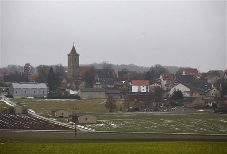 A general view of the village of Gammesfeld in Baden Wuerttemberg which has 500 residents and boasts Germany's smallest bank, January 29, 2013. REUTERS/Lisi Niesner