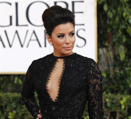 Actress Eva Longoria arrives at the 70th annual Golden Globe Awards in Beverly Hills, California, January 13, 2013. REUTERS/Mario Anzuoni