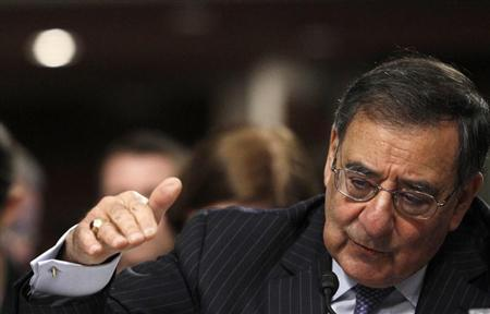 U.S. Secretary of Defense Leon Panetta testifies on the Defense Department's response on the attack on U.S. facilities in Benghazi, Libya before the Senate Armed Services Committee hearing in Washington February 7, 2013. REUTERS/Gary Cameron
