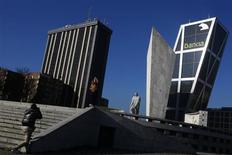 La CNMV dijo el jueves que suspendió la cotización de las acciones de Bankia, después de que el periódico Expansión publicara que el FROB valora cada acción de la entidad nacionalizada en 0,01 euros. En la imagen, la sede de Bankia en Madrid, el 27 de diciembre de 2012. REUTERS/Susana Vera