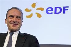 Henri Proglio, PDG d'EDF. L'électricien annonce une hausse surprise de son dividende et un allègement de sa dette lié à la reconnaissance d'une créance de la part de l'Etat, sur fond de résultats 2012 en hausse, grâce notamment au rachat de l'italien Edison. /Photo prise le 14 février 2013/REUTERS/Philippe Wojazer