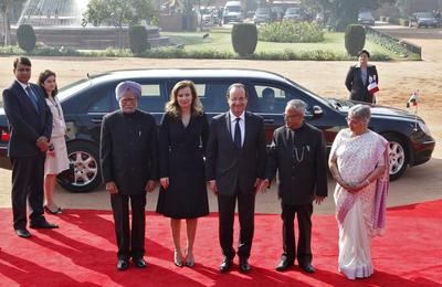 French president visits India
