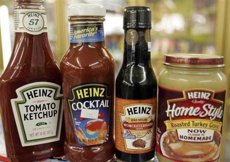 A variety of Heinz products are seen at a convenience store in Golden, Colorado February 28, 2006. REUTERS/Rick Wilking/Files