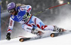 La Française Tessa Worley a été sacrée jeudi championne du monde de slalom géant à Schladming en Autriche, devançant la Slovène Tina Maze et l'Autrichienne Anna Fenninger. /Photo prise le 14 février 2013/REUTERS/Dominic Ebenbichler