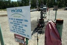 An Encana production well for oil and natural gas is seen in a state forest park in Kalkaska, Michigan, in this June 20, 2012, file photo. REUTERS/Rebecca Cook/Files