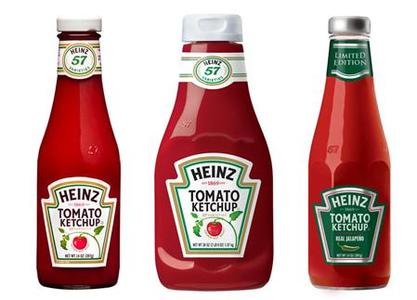 Heinz ketchup products in a combination image. REUTERS/Courtesy Heinz