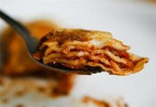 A ready-made meal of Lasagne is pictured in Dortmund February 14, 2013. REUTERS/Ina Fassbender