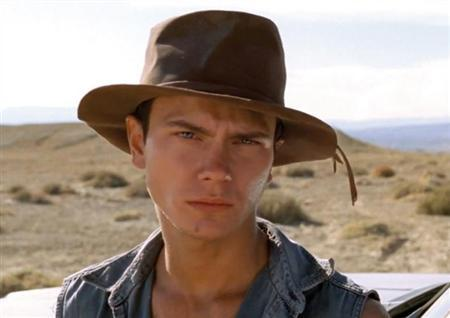 River Phoenix in a scene from the film Dark Blood. REUTERS/Berlin Film Festival