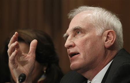 Federal Reserve Board Governor Daniel Tarullo testifies before the Senate Banking, Housing and Urban Affairs Committee in Washington February 14, 2013. REUTERS/Gary Cameron