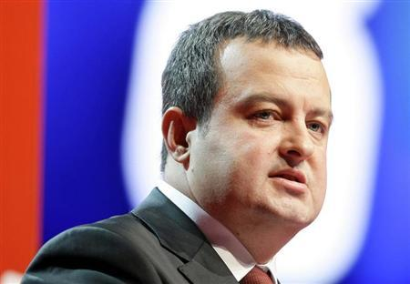 Serbian Socialist leader Ivica Dacic speaks during the 8th Congress of Socialist Party of Serbia in Belgrade in this December 11, 2010 file photo. REUTERS/Marko Djurica/Files