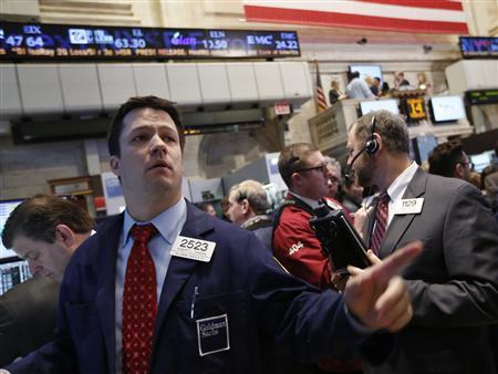 Wall Street ends slightly higher, helped by acquisitions