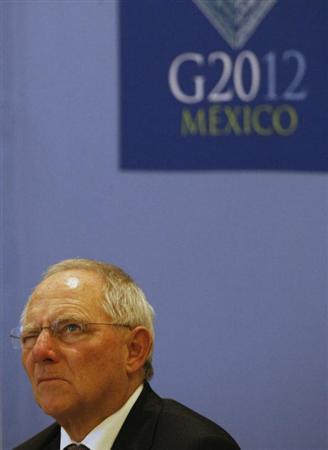 Germany's Finance Minister Wolfgang Schaeuble attends a news conference at the G20 Summit in Mexico City November 5, 2012. REUTERS/Bernardo Montoya