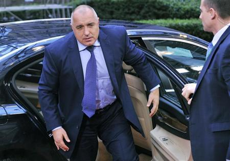 Bulgaria's Prime Minister Boiko Borisov arrives at the EU council headquarters for an European Union leaders summit meeting to discuss the European Union's long-term budget in Brussels February 7, 2013. REUTERS/Eric Vidal