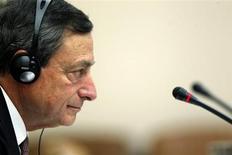 Il presidente della Banca centrale europea Mario Draghi lo scorso 12 febbraio a Madrid. REUTERS/Javier Barbancho