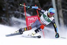 L'Américain Ted Ligety a été sacré vendredi champion du monde de slalom géant. /Photo prise le 15 février 2013/REUTERS/Dominic Ebenbichler