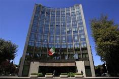 Le siège de Finmeccanica, à Rome. L'Inde, après avoir suspendu ses paiements à l'italien Finmeccanica pour un marché de 12 hélicoptères, a annoncé vendredi l'ouverture d'une procédure visant à annuler ce contrat de 750 millions de dollars (560 millions d'euros). /Photo prise le 3 mai 2012/REUTERS/Max Rossi
