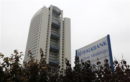Turkey's Halkbank headquarters are seen in Ankara November 19, 2012. REUTERS/Umit Bektas
