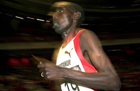 Moses Kiptanui of Kenya runs in the 3,000 meters race at the Stockholm international athletics meeting February 17. ME - RTRSDFL