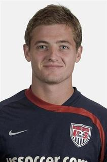 Midfielder Robbie Rogers of the U.S. national soccer team is seen in this undated handout. REUTERS/U.S. Soccer/Handout