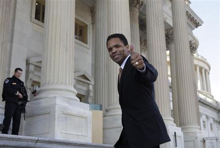 Rep. Jesse Jackson, Jr. (D-IL) appears on the U.S. Capitol steps in Washington December 2, 2011. REUTERS/Yuri Gripas