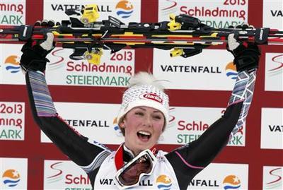 Seventeen-year-old Shiffrin wins slalom gold