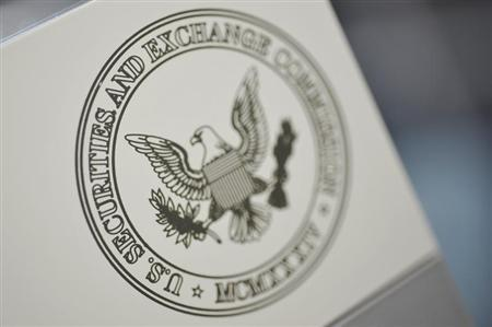 The Securities and Exchange Commission logo adorns an office door at the SEC headquarters in Washington, June 24, 2011. REUTERS/Jonathan Ernst