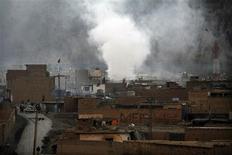 Un attentat à Quetta contre la communauté chiite palistanaise a fait 64 morts et 130 blessés. La majeure partie des victimes sont des membres de la communauté chiite, minoritaire dans le pays, qui est devenue depuis quelques années la cible d'attaques menées par des organisations extrémistes sunnites. /Photo prise le 16 février 2013/REUTERS/Naseer Ahmed