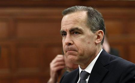 Bank of Canada Governor Mark Carney waits to testify before the Commons finance committee on Parliament Hill in Ottawa February 12, 2013. REUTERS/Chris Wattie