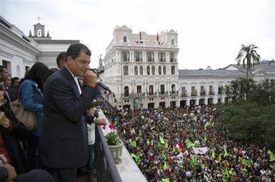Ecuador's Correa claims re-election victory