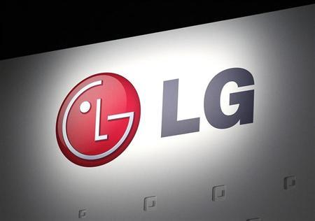 LG Electronics' company logo is displayed at their news conference at the Consumer Electronics Show (CES) in Las Vegas January 7, 2013.REUTERS/Rick Wilking