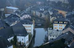 The Petrusse river is seen in this general view of the city of Luxembourg in this November 20, 2012 file picture. To match INSIGHT TAX-CONTEST/EUROPE REUTERS/Francois Lenoir/Files
